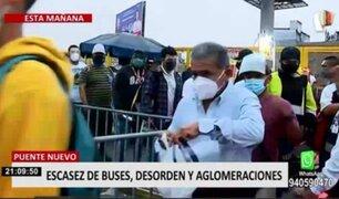 Paro de transportistas: aglomeraciones se registraron en varios paraderos de Lima