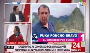 Candidato al Congreso por Avanza País insultó a López Aliaga durante entrevista