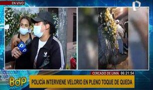Intervención en velorio: denuncian que mataron a joven a balazos y PNP aún no resuelve