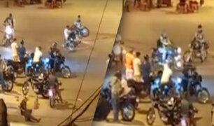 Los Olivos: Extranjeros realizan maniobras en moto en pleno toque de queda