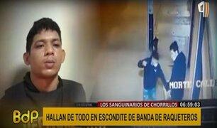 """Hallan escondite de banda de raqueteros """"los sanguinarios de Chorrillos"""""""