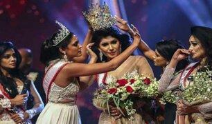 Sri Lanka: arrebatan corona a ganadora de concurso de belleza por estar divorciada