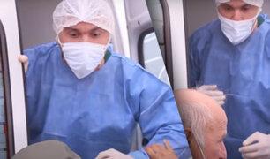 Argentina: médico enfrenta a manifestantes que bloqueaban carretera