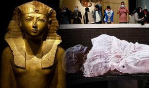 Egipto: Inauguran museo con apertura de milenarios sarcófagos