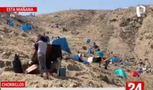 Chorrillos: invasores lotizan el Morro Solar