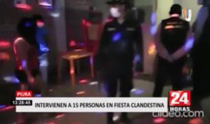 Intervienen a 15 personas en fiesta clandestina en Piura