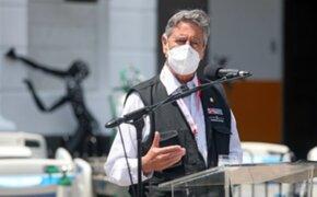 Sagasti invoca a partidos políticos a suscribir pacto por la mejora de la salud pública