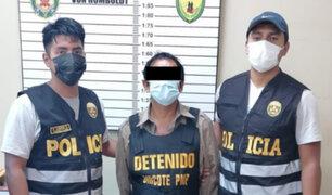 Capturan a presunto integrante de Sendero Luminoso en un caserío de Ucayali