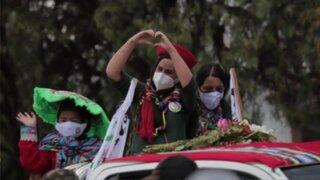 Elecciones 2021: Verónika Mendoza cae durante homenaje a Túpac Amaru II