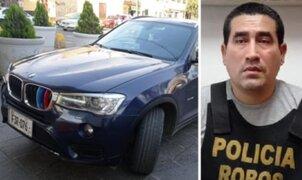 Capturan a delincuente en moderno auto BMW que fue robado en el 2019