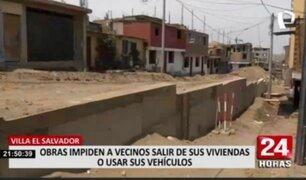 Obras dificultan a vecinos de VES salir de sus domicilios