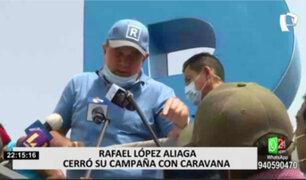 Elecciones 2021: López Aliaga cerró su campaña presidencial en caravana por Lima Norte