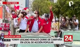 Elecciones 2021: Lescano realizó cierre de campaña en local de Acción Popular