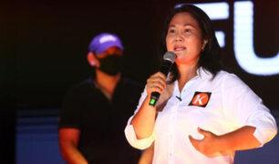Elecciones 2021: Keiko Fujimori cerró su campaña electoral con un mitin en Villa El Salvador