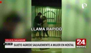 Mujer fue brutalmente agredida al interior de hostal en Villa El Salvador