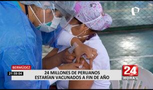 Bermúdez: 24 millones de peruanos estarían vacunados a fin de año