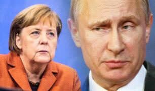 Angela Merkel pide a Putin mover sus tropas de Ucrania