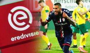 Sergio Peña marca de penal en el FC Emmen vs Sittard