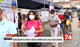 Lima: se registraron largas filas en las oficinas del Reniec a pocas horas de las elecciones