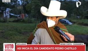 Elecciones 2021: Pedro Castillo inicia jornada con actividades agrícolas