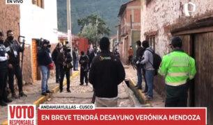 Verónika Mendoza iniciará jornada electoral tomando desayuno con sus familiares en Cusco