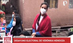 Verónika Mendoza: Me siento con mucha esperanza porque ha llegado el momento del cambio
