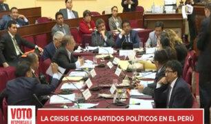 Crisis de partidos políticos en Perú provoca desconfianza en electorado