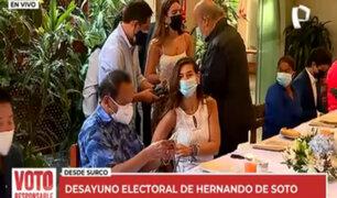 """Hernando de Soto: """"No tengo expectativas. Vamos a ser sorprendidos por el voto"""""""