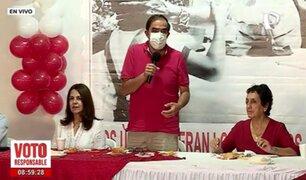 """Yonhy Lescano: """"esperaremos resultados en casa junto a la familia y militantes del partido"""""""