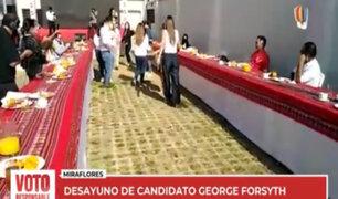 Desayuno electoral: así inician su jornada los candidatos de Victoria Nacional