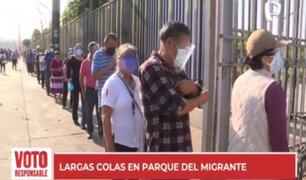 La Victoria: Largas colas y aglomeración en Parque del Migrante