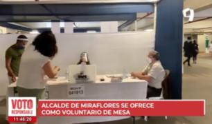 Alcalde de Miraflores se ofrece como miembro de mesa