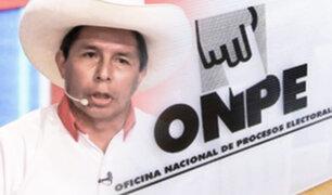 """Pedro Castillo tras el flash electoral: """"Agradezco al pueblo peruano y pido calma y tranquilidad"""""""