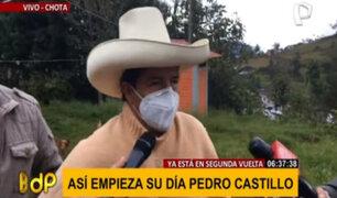 Pedro Castillo hace llamado a partidos políticos y organizaciones desde su natal Cajamarca