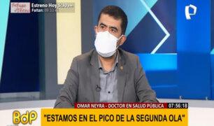 """Omar Neyra sobre Covid-19 en Perú: """"Estamos en el pico de la segunda ola"""""""