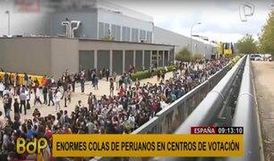España: largas colas y aglomeración se reportó durante votaciones de la comunidad peruana