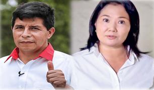 Segunda vuelta: Primera encuesta presidencial entre Pedro Castillo y Keiko Fujimori