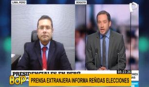 Elecciones 2021: Así informó la prensa extranjera los resultados de la primera vuelta