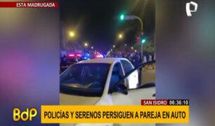 San Isidro: confusa persecución policial a pareja terminó en choque