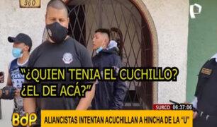 Surco: barristas de Alianza Lima intentaron acuchillar a hincha de Universitario