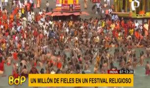 India: un millón de fieles participan de festival religioso en plena pandemia