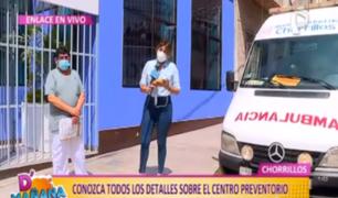 Chorrillos inaugura centro preventorio COVID-19 'Virgen del Morro'