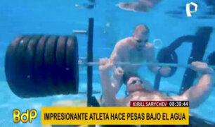 Kirill Sarychev: atleta bate récord tras levantar enormes pesas bajo el agua
