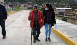 Anciano de 78 años que dormía en las calles fue rescatado en Huancavelica