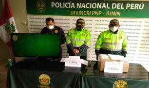 Detienen a hermanas que transportaban 28 kilos de droga en Junín