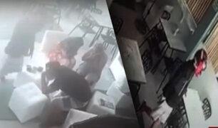Piura: cámara registra violento asalto en cevichería