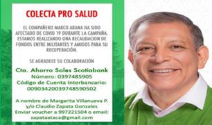 Hacen colecta para apoyar al candidato Marco Arana tras contagiarse de coronavirus
