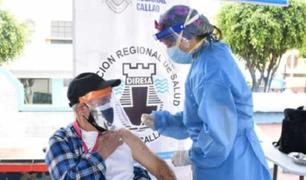 El Minsa culmina primera etapa de vacunación de adultos mayores en el Callao