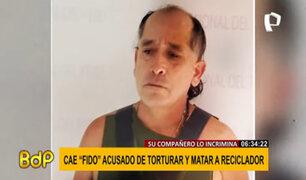 """A sangre fría: detienen a """"Fido"""", acusado de torturar y matar a reciclador"""