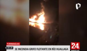 Yurimaguas: luchan por controlar incendio en grifo flotante